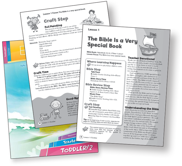 Toddler Children's Sunday School Curriculum Bible-in-Life Teachers Guide